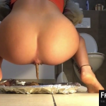 Absolutely Sexy Ass Taking A Giant Brown Shit On Cam