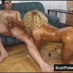 Blonde With Hairy Pussy And Big Tits Gets Covered In Scat During Sex